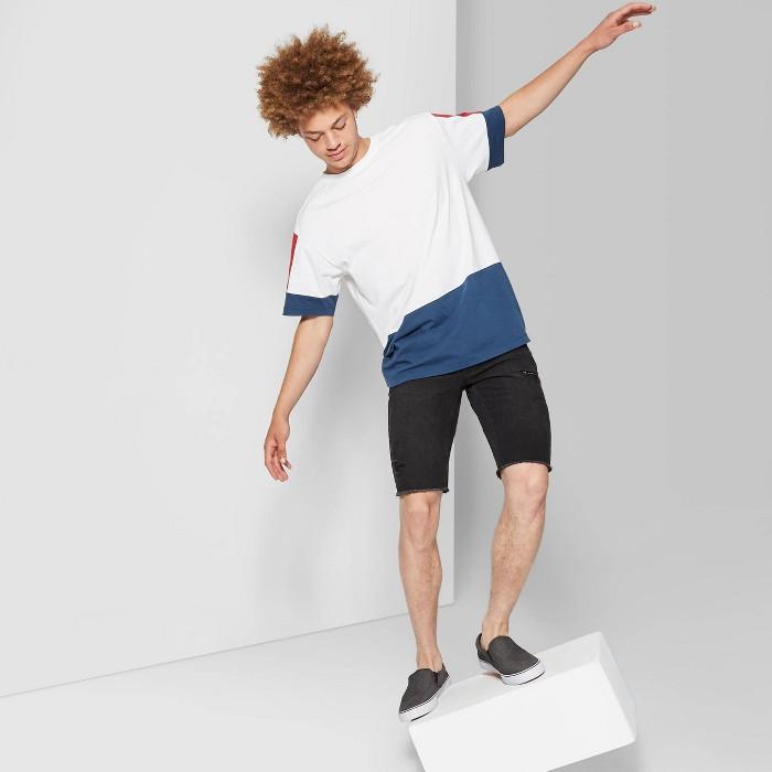 Men's Printed Short Sleeve T-Shirt - Original Use™ Graphite Blue - image 1 of 3