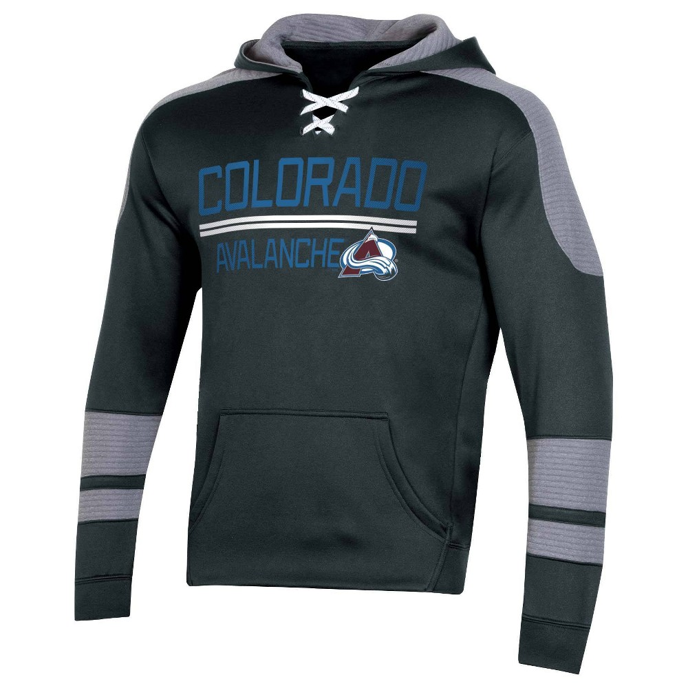 Nhl Colorado Avalanche Men 39 S Edge Poly Textured Hoodie M
