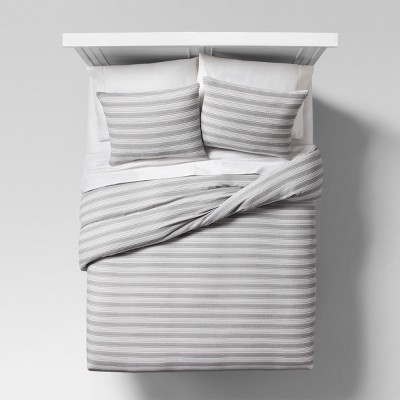 Gray Abstract Stripe Duvet Cover & Sham Set (Full/Queen)- Project 62™