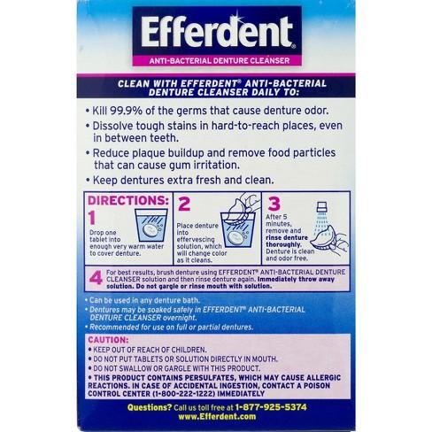 Efferdent Anti Bacterial Denture Cleanser Tablets 120ct Target