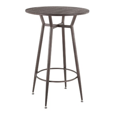 Clara Industrial Round Bar Table - LumiSource
