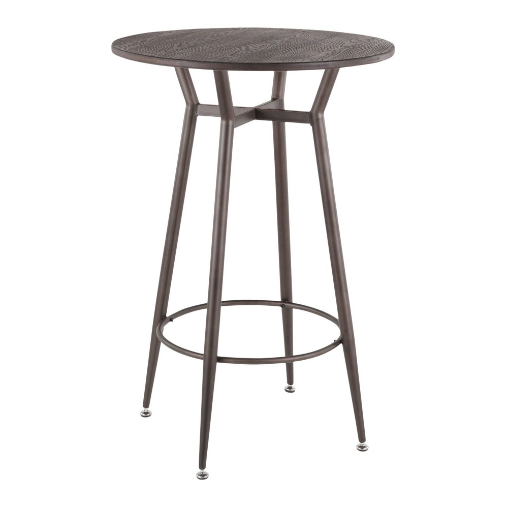 Stupendous Clara Industrial Round Bar Table Antiqueespresso Ncnpc Chair Design For Home Ncnpcorg