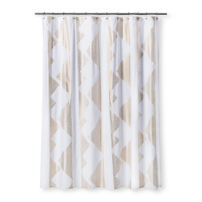 Diamond Print Shower Curtain White - Room Essentials™