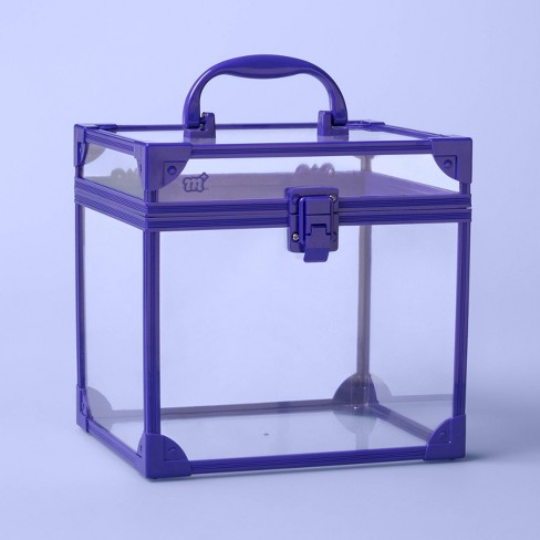Clear Train Case - More Than Magic™ Purple - image 1 of 2