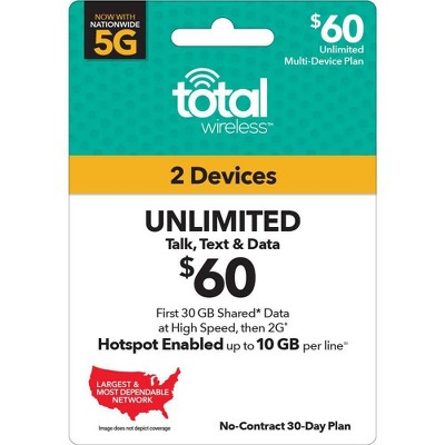 Total Wireless Unlimited Multi Device 30-Day Plan (Email Delivery)