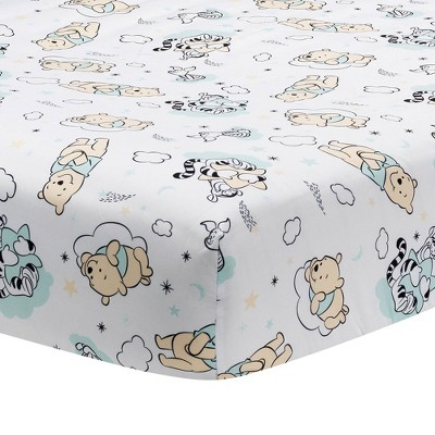 Lambs & Ivy Winnie the Pooh Hugs Fitted Crib Sheet
