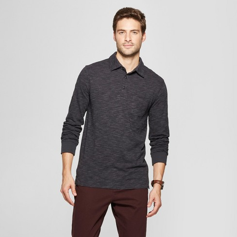 Men's Standard Fit Long Sleeve Jersey Polo Shirt - Goodfellow & Co™ - image 1 of 3