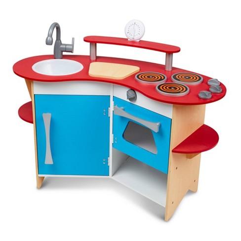 Melissa & Doug Cook's Corner Wooden Kitchen Pretend Play Set - image 1 of 4