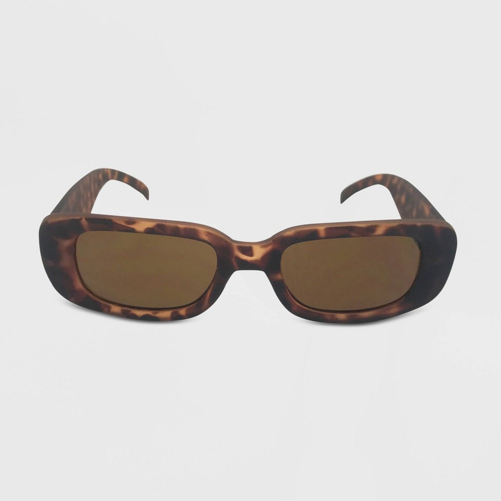 Women's Rectangle Sunglasses - Wild Fable Brown