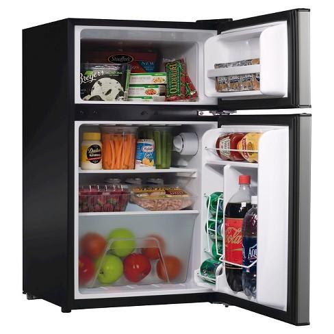 Whirlpool 3 1 cu ft Mini Refrigerator Stainless Steel BCD-88V