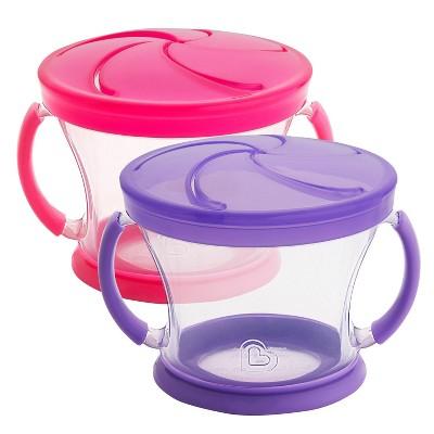 Munchkin Snack Catcher - 2pk - Pink/Purple