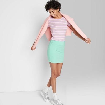 Women's Knit Bodycon Mini Pencil Skirt - Wild Fable™