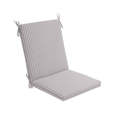 Crestwood Stripe Chair Cushion DuraSeason Fabric™ Gray - Threshold™