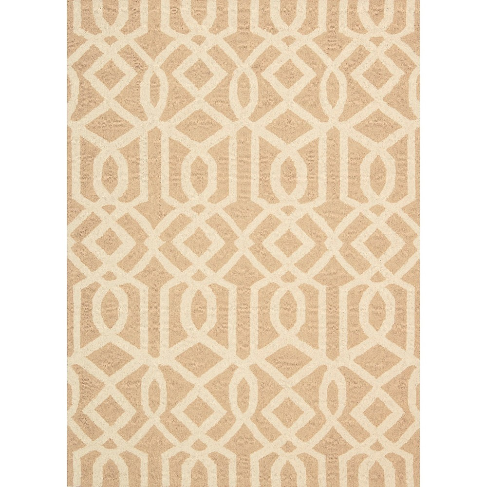 Image of Nourison Tribal Trellis Linear Area Rug - Sand/Ivory (Brown/Ivory) (8'X11')