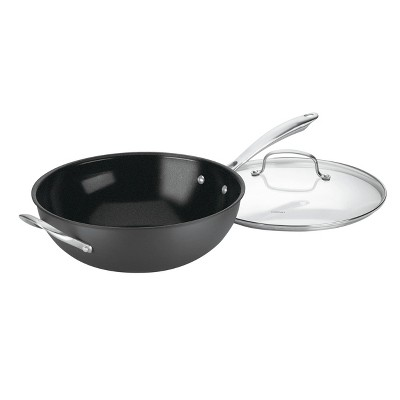 """Cuisinart GreenGourmet 12"""" Non-Stick Hard Anodized Stir Fry Wok with Cover - GG26-30H"""