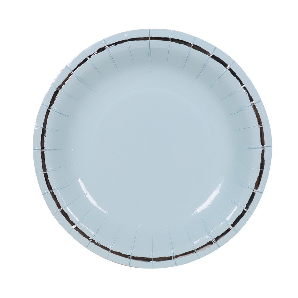 10ct Large Snack Plates Blue - Spritz