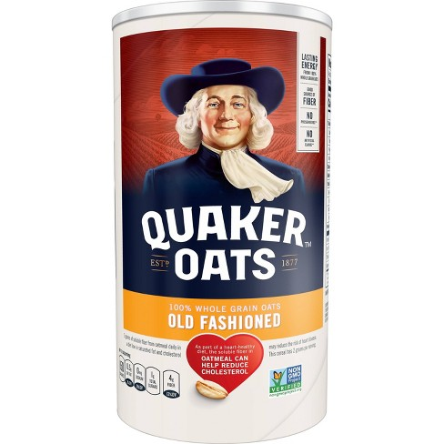 Quaker 100% Whole Grain Old Fashioned Rolled Oats Canister - 18oz - image 1 of 4