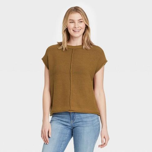 Women's Crewneck Extended Shoulder Sweater Vest - Universal Thread™ - image 1 of 3