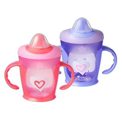Tommee Tippee Hold Tight 2pk Trainer Sippy Cup - 7+ Months - Red/Purple - 9oz