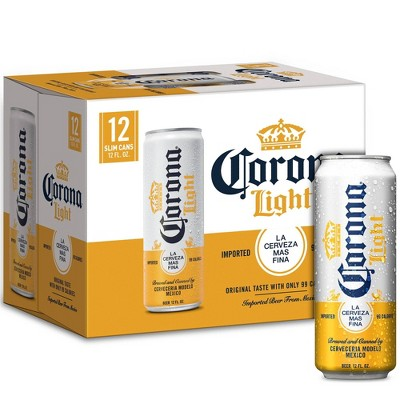 Corona Light Lager Beer - 12pk/12 fl oz Cans