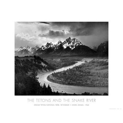Art.com - Tetons and The Snake River, Grand Teton National Park c.1942 Art Print