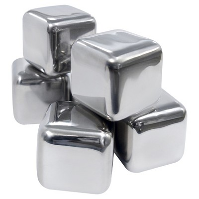 Epicureanist Stainless Ice Cubes (Set of 6)