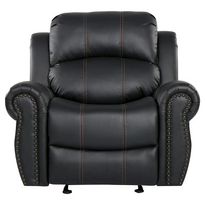 Charlie Faux Leather Glider Recliner Club Chair - Christopher Knight Home