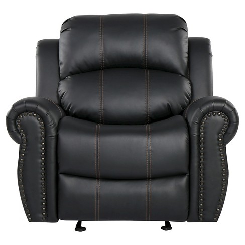Charlie Faux Leather Glider Recliner Club Chair - Christopher Knight Home - image 1 of 4