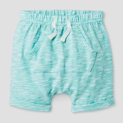 Baby Boys' Kanga Pocket Shorts Cat & Jack™ - Sea Green 0-3 Months