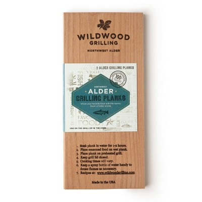 "Wildwood Grilling 2pk 5"" x 11"" Alder Plank"