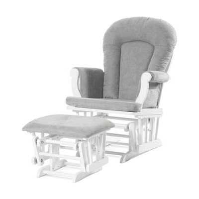 Forever Eclectic Cozy Glider and Ottoman - White