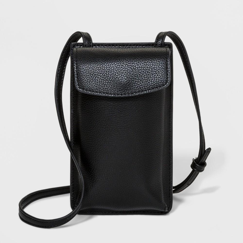 Everyday Essentials Cellphone Crossbody Bag - A New Day Black, Women's
