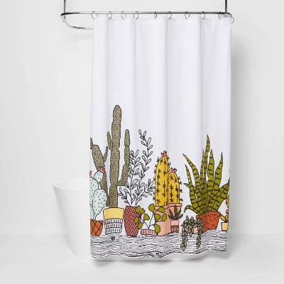 Plants Print Shower Curtain Green - Room Essentials™