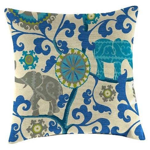 Outdoor Throw Pillow Set Jordan Manufacturing Multi-colored Bright Blue  Bone   Target e9b4346cf53d