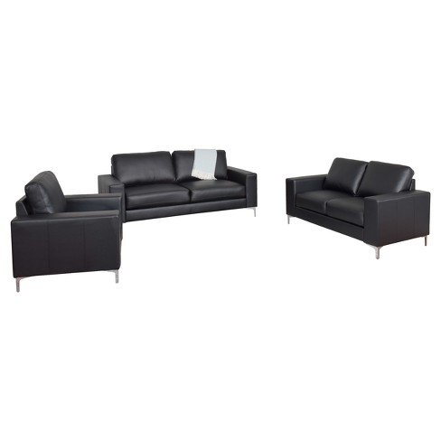 Cory 3pc Contemporary Bonded Leather Sofa Set - Corliving - image 1 of 6