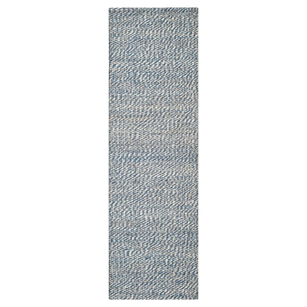 2'6x10' Solid Runner Blue - Safavieh