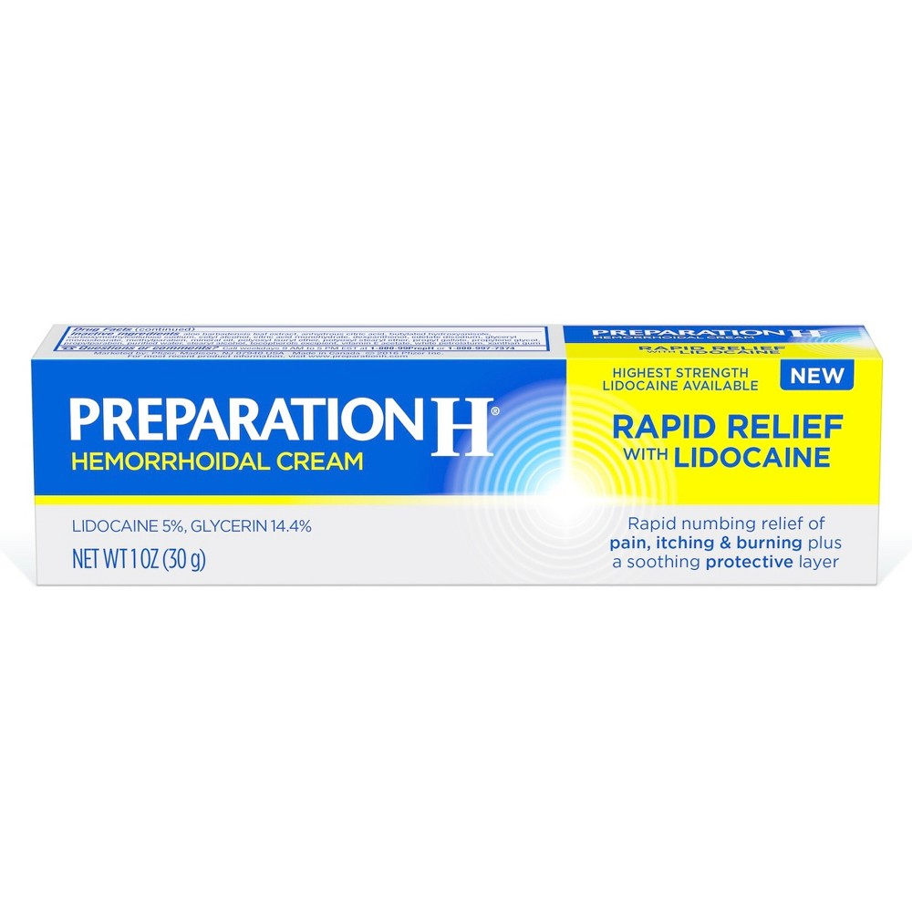 Preparation H Rapid Relief Hemorrhoid Symptom Treatment Cream with Lidocaine - 1oz