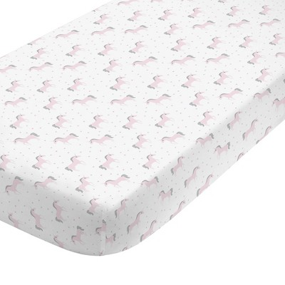 Nojo Unicorn 100% Cotton Sateen Fitted Crib Sheet