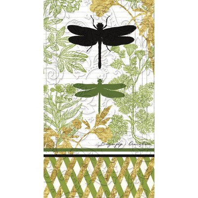 Evergreen Cypress Home Garden Botanical Embossed Paper Cocktail Napkin, 15 count