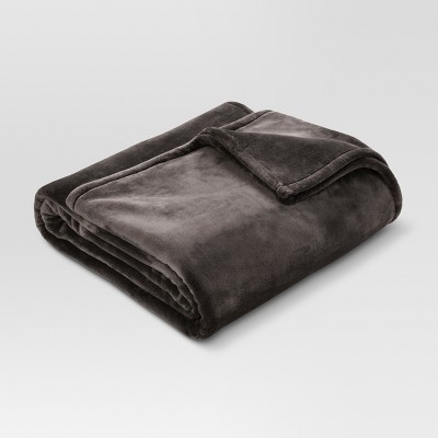 Full/Queen Microplush Bed Blanket Hot Coffee - Threshold™