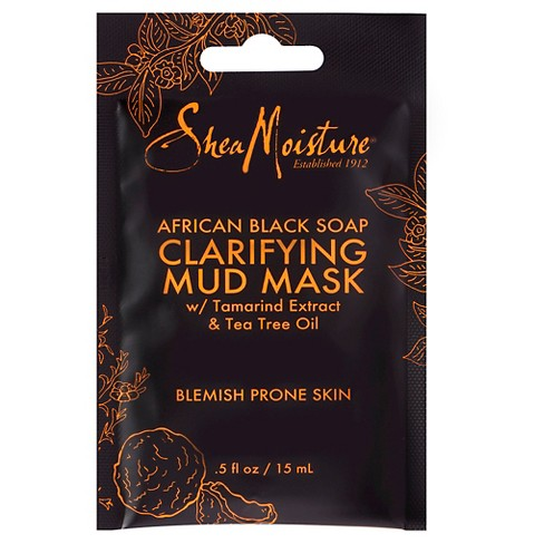 SheaMoisture® African Black Soap Clarifying Mud Mask - Tamarind Extract & Tea Tree Oil - .5oz - image 1 of 4