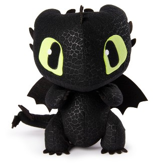"""DreamWorks Dragons, Squeeze & Growl Toothless, 10"""" Plush Dragon with Sounds"""