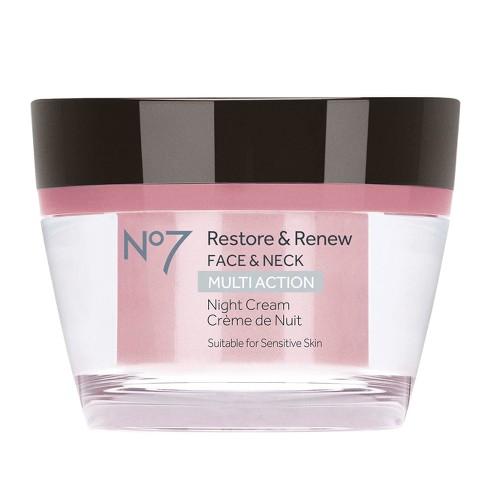 No7 Restore & Renew Face & Neck Multi Action Night Cream 1 69oz