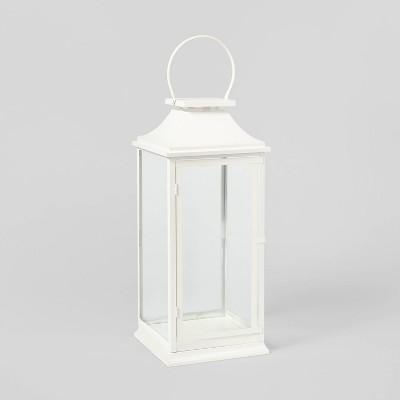 24in Decorative Metal Lantern White - Wondershop™