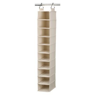 Household Essentials® Cedarline 10-Pocket Cotton Canvas Shoe Organizer