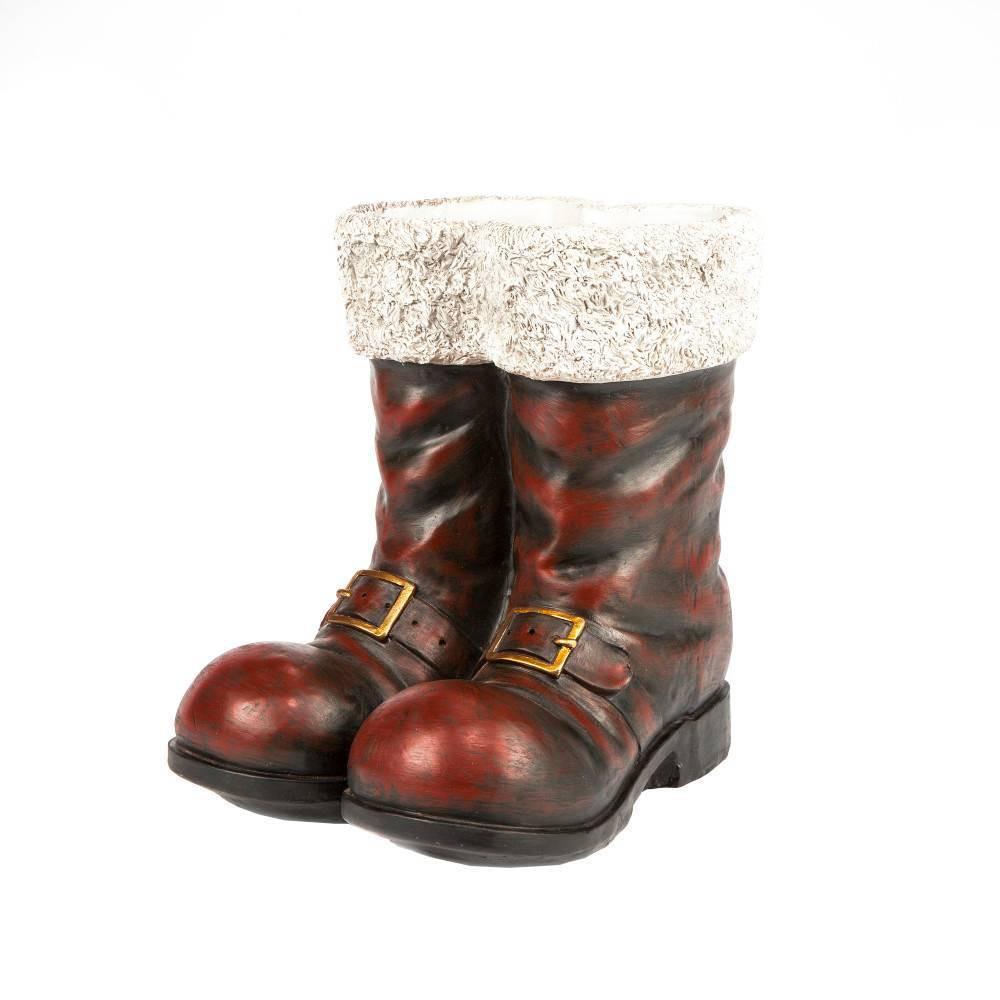 "Image of ""16"""" Gerson International Red Santa Boots Decorative Figurine - Gerson International"""