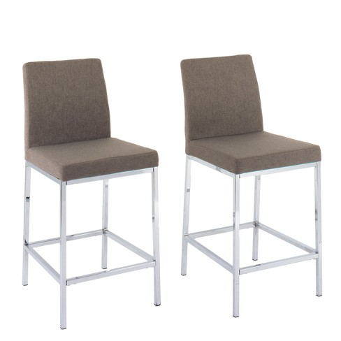 Set of 2 Counter And Bar Stools Brown - CorLiving - image 1 of 4