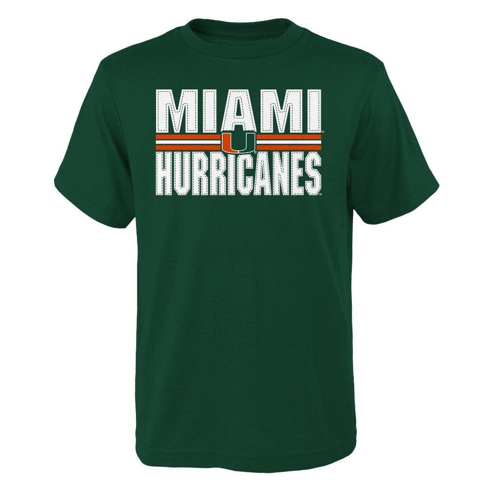 Ncaa Miami Hurricanes Boys 39 Short Sleeve Core T Shirt L