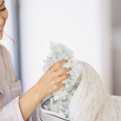 Coop Home Goods The Eden -Adjustable Memory Foam Pillow for Cool Sleepers
