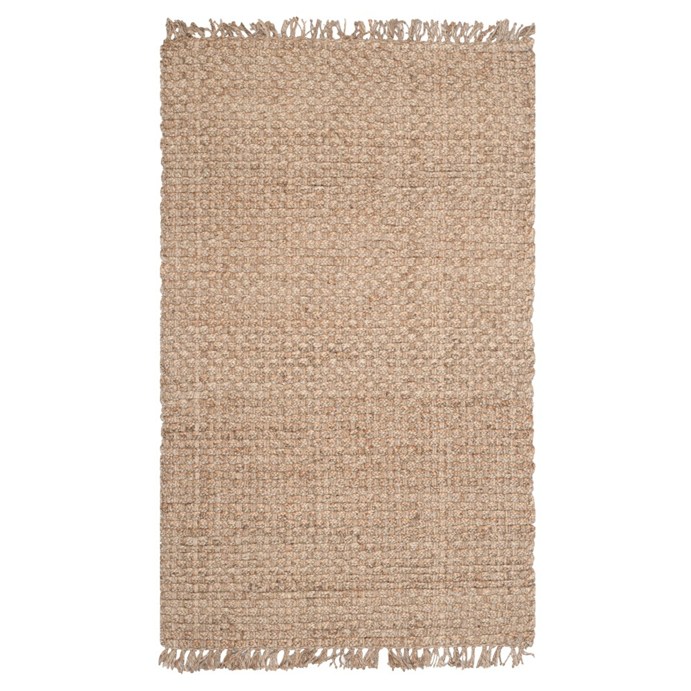 Natural Solid Loomed Area Rug - (5'x8') - Safavieh, White